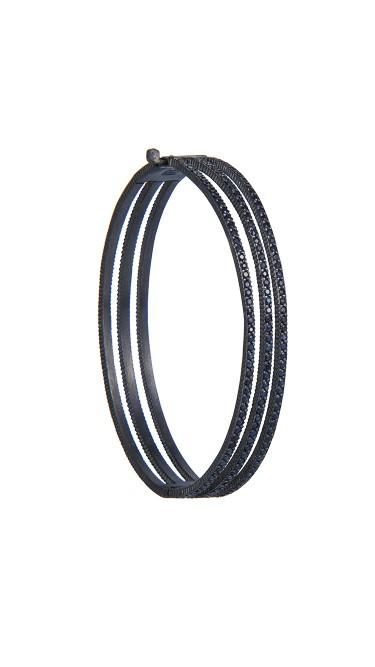 Yossi Harari Jewelry Oxidized Gilver Blue Sapphire Lilah Bracelet