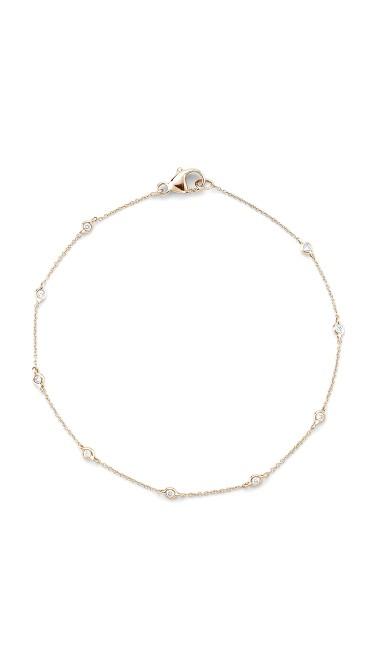 Lulu Jack Diamond Bezel Station Bracelet