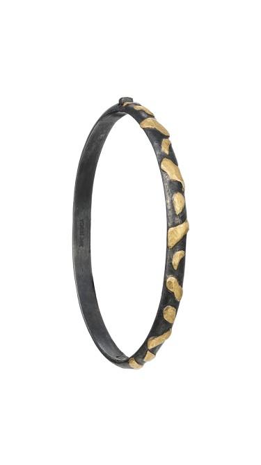 Yossi Harari Jewelry Jane 24k Gold & Oxidized Gilver Libra Bangle