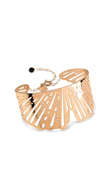 GINETTE NY 18K Rose Gold Gingko Cuff