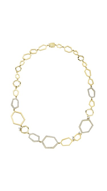 "Mimi So Jackson 18k Yellow Gold With Pave Diamonds, 18"" Necklace"