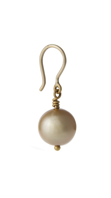 Yossi Harari Jewelry 24k Gold South Sea Cultured Pearl Drop Roxanne Earrings