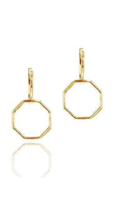 Yellow Gold Hero Leverback Earrings