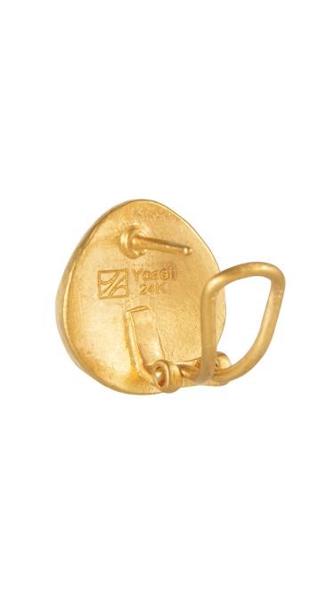 Yossi Harari Jewelry 24k Gold Small French Clip Roxanne Earrings