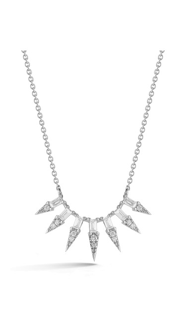 White Gold Sadie Pearl Starburst Necklace