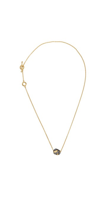 Yossi Harari Jewelry Jane 24k Gold Cognac Diamond Single Bead Roxanne Necklace