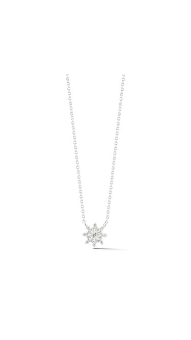 Jennifer Yamina Pendant Necklace 14k White Gold Necklace