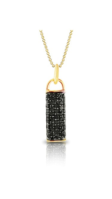 Yellow Gold Contrast Drop Necklace