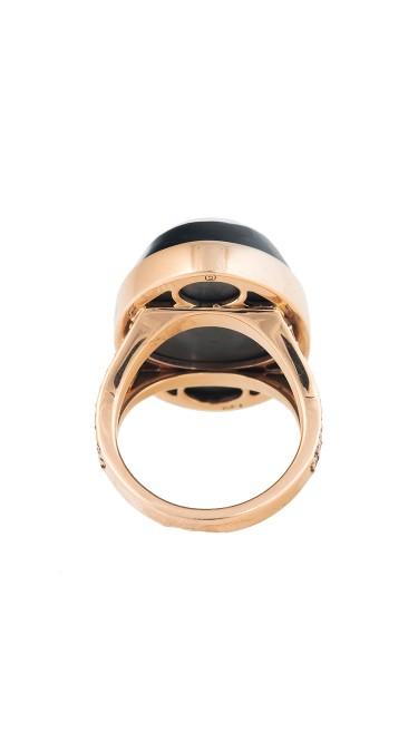 18K Rose Gold Hematite Yola Ring