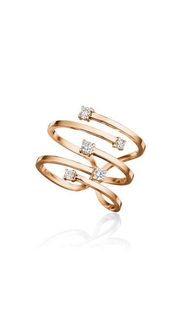 Piece Stick Ring with Diamond