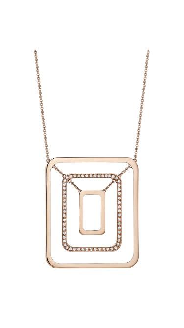 Piece Swing Center Diamond Necklace (Medium)