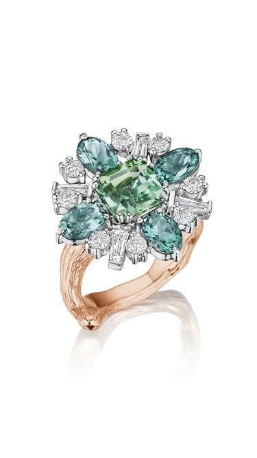 18K Gold Wonderland Tourmaline Flower Ballerina Ring