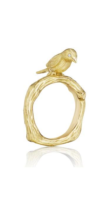 18K Gold Wonderland Stackable Love Bird Ring