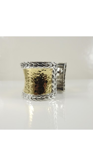 John Hardy 22K Yellow Gold 925 Sterling Silver Bracelet