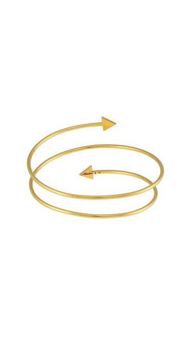 Misahara Unity One Double Coil  18k Yellow Gold Bracelet