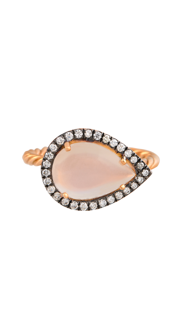 Time Compassionate Eye Rose Gold Ring