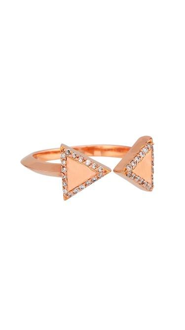 Misahara Unity Two 18k Rose Gold Ring
