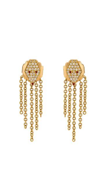 Misahara Drina Waterfall Earrings 18k Yellow Gold Earrings
