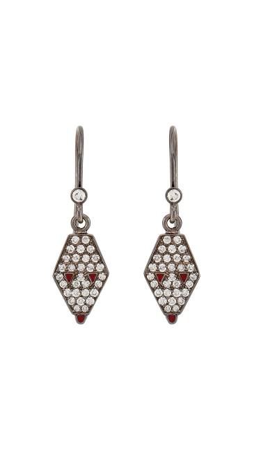 Misahara Drina Dew Earrings 18k Oxidized White Gold Earrings