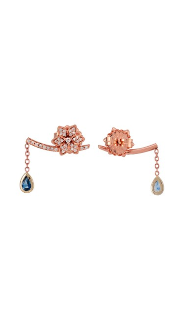 Misahara Watering Willow 18k Rose Gold Earrings