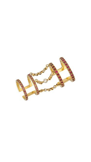 Misahara Koral Korali 18k Yellow Gold Ring