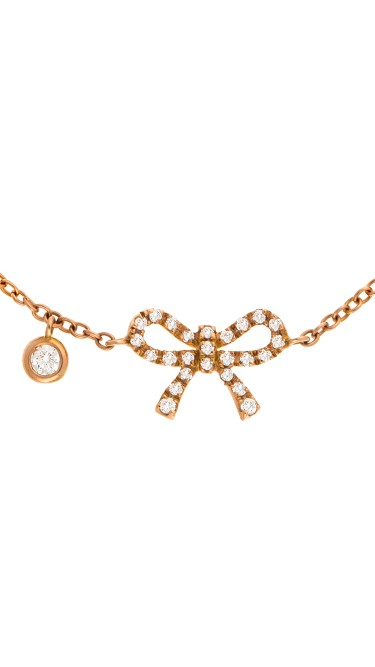 Dainty Collection 18k Rose Gold Diamonds Bracelet