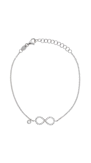 Dainty Collection 18k White Gold Diamonds Bracelet