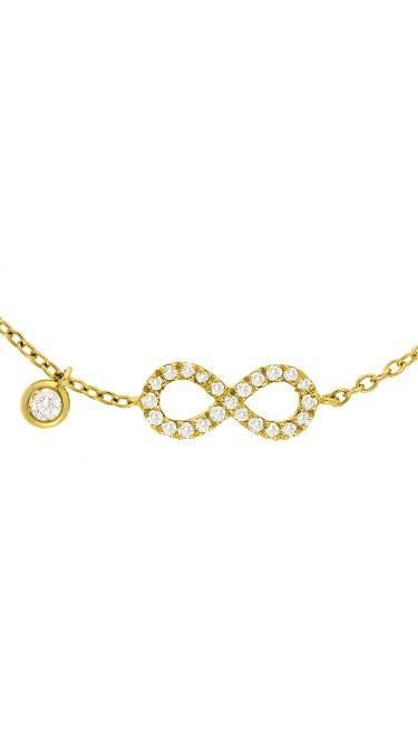 Dainty Collection 18k Yellow Gold Diamonds Bracelet