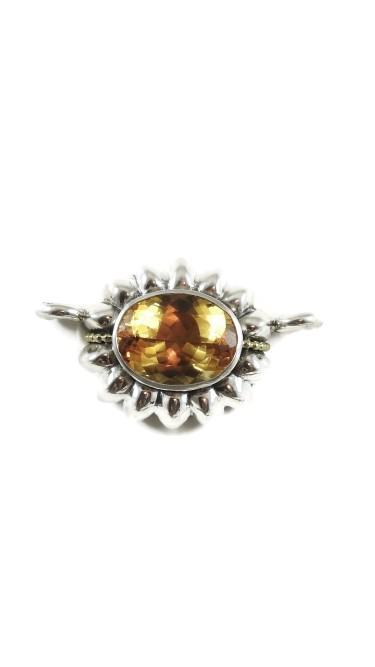 Lagos Caviar 18K Yellow Gold 925 Sterling Silver Citrine Pendant