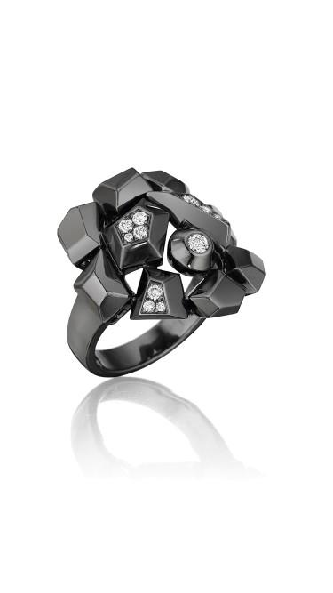 Mimi So Jackson Diamond Cluster Ring Size 6
