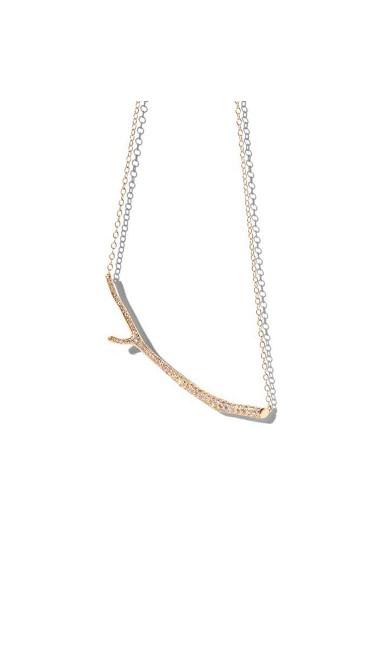 18K Gold Wonderland Twig and Diamond Necklace