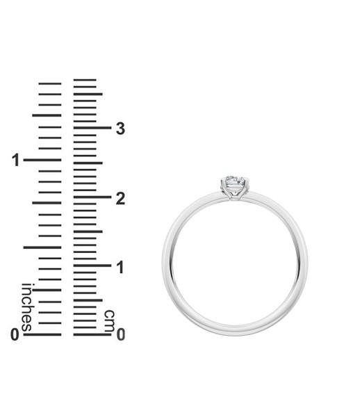 0.25 Ct Round Cut Petite Lab Grown Diamond Ring in 14K White Gold