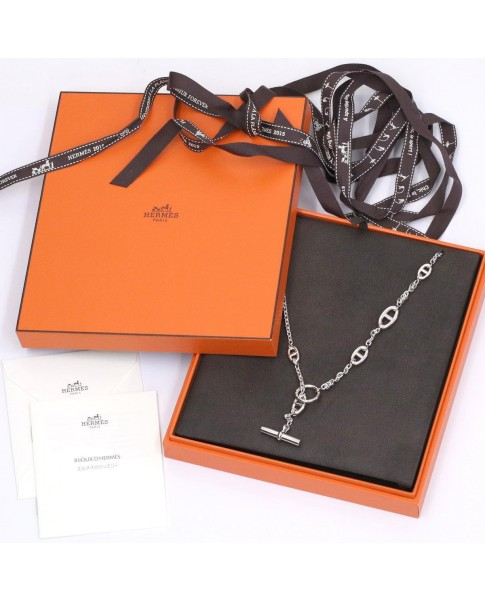 Hermes Chaine D'ancre Sterling Silver Necklace