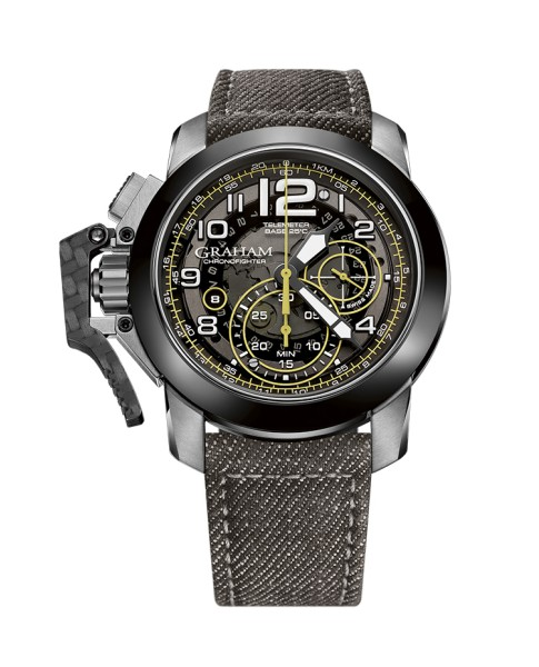 Graham Chronofighter Steel And Target 2CCAC.B16A.T34S 47mm Mens Watch