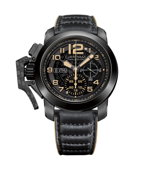 Graham Chronofighter Steel Black PVD 2CCAU.B32A.L144N 47mm Mens Watch