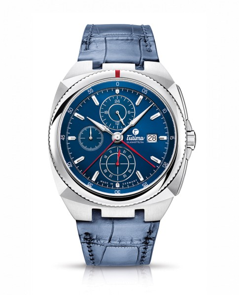 Tutima Saxon One Chronograph 6420-06 Blue Strap