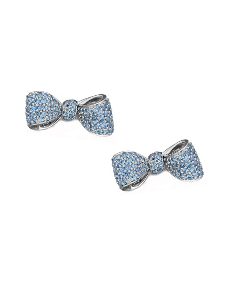 18K Gold Mini Knot Bow Studs