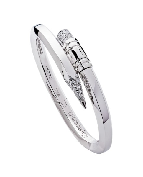 TZURI White Gold Large Signature Bracelet
