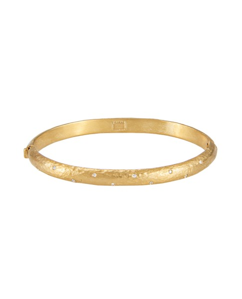 Yossi Harari Jewelry Roxanne 24k Gold Sprinkle Diamond Mica Bangle
