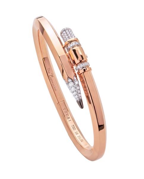 TZURI Rose Gold Medium Signature X2 Bracelet