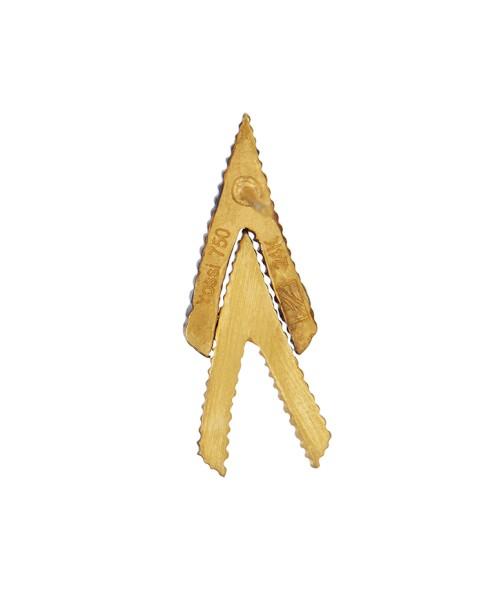 Yossi Harari Jewelry 18k Gold White Diamond Lilah Chevron Earrings