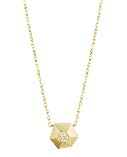 18K Gold Jackson Small Diamond Pendant