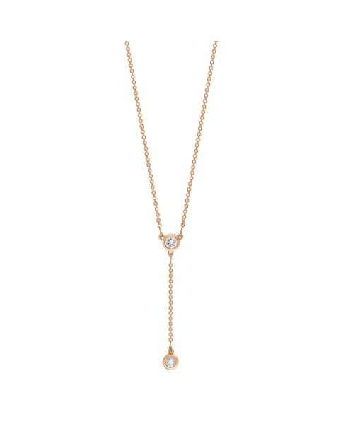 GINETTE NY 18K Rose Gold Lonely Diamond Lariat