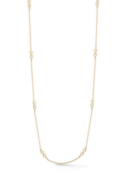 Yellow Gold Lulu Jack Double Bezel Necklace