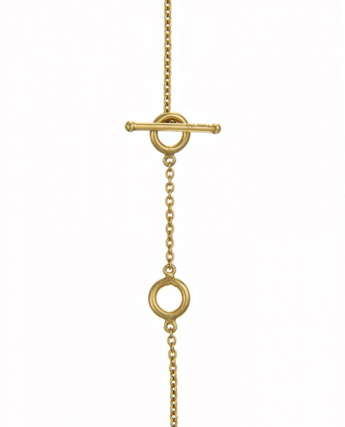 Yossi Harari Jewelry 18k Gold White Diamond  Lilah Smile Necklace