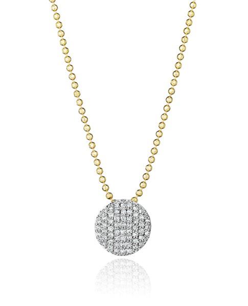 Yellow Gold & Diamond Mini Infinity Necklace