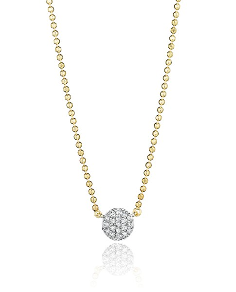 Yellow Gold Micro Infinity Necklace