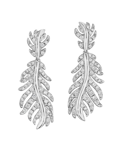 18K Gold Phoenix Medium Pave Earrings