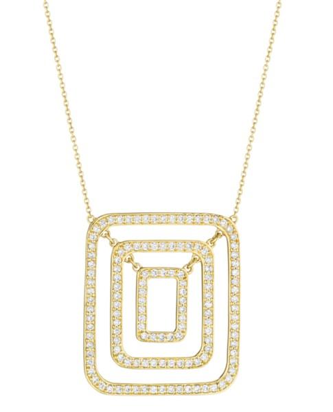 Piece Swing Diamond Necklace (Medium)