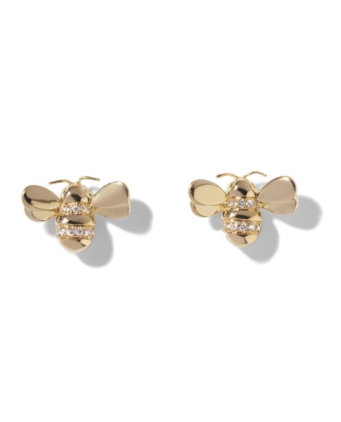 e899f7354 The Wonderland Pave Diamond Bee Earring | Mimi So | Buy at TrueFacet